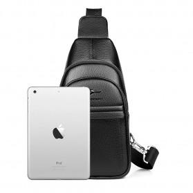 Rhodey Tas Selempang Pria Premium Kulit Leather Bag - HA-075 - Black - 2