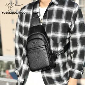 Rhodey Tas Selempang Pria Premium Kulit Leather Bag - HA-075 - Black - 3