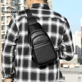 Rhodey Tas Selempang Pria Premium Kulit Leather Bag - HA-075 - Black - 4