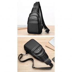 Rhodey Tas Selempang Pria Premium Kulit Leather Bag - HA-075 - Black - 5