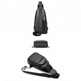 Rhodey Tas Selempang Pria Premium Kulit Leather Bag - HA-075 - Black - 6