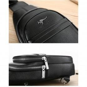 Rhodey Tas Selempang Pria Premium Kulit Leather Bag - HA-075 - Black - 7