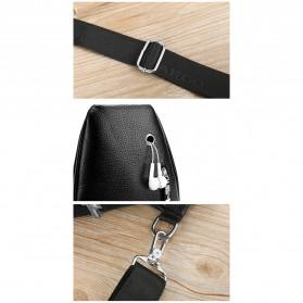 Rhodey Tas Selempang Pria Premium Kulit Leather Bag - HA-075 - Black - 8