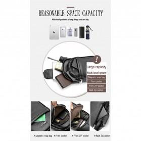 Rhodey Tas Selempang Pria Premium Kulit Leather Bag - HA-075 - Black - 9
