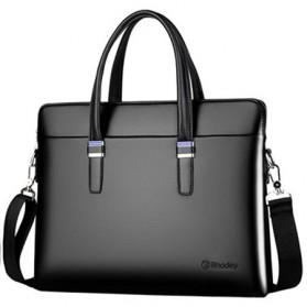 Rhodey Tas Selempang Pria Premium Kulit Leather Bag Briefcase - HA-062 - Black