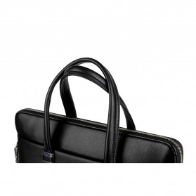 Rhodey Tas Selempang Pria Premium Kulit Leather Bag Briefcase - HA-062 - Black - 11