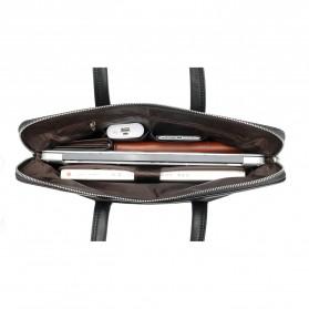 Rhodey Tas Selempang Pria Premium Kulit Leather Bag Briefcase - HA-062 - Black - 13