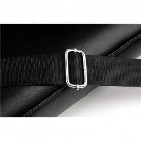 Rhodey Tas Selempang Pria Premium Kulit Leather Bag Briefcase - HA-062 - Black - 8