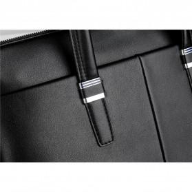 Rhodey Tas Selempang Pria Premium Kulit Leather Bag Briefcase - HA-062 - Black - 9