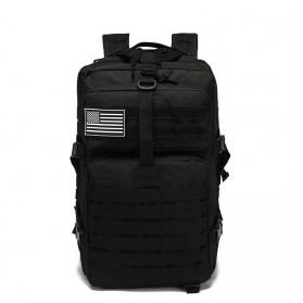 Tas Ransel Laptop / Backpack Notebook - AOKALI Tas Ransel Backpack Military Tactical Waterproof 50L - B22 - Black