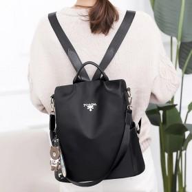 LONOOLISA Tas Ransel Backpack Campus Rucksack - Y4161 - Black - 4
