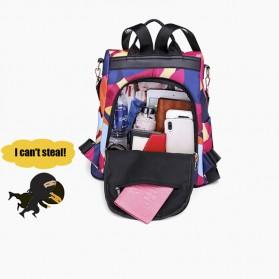 LONOOLISA Tas Ransel Backpack Campus Rucksack - Y4161 - Black - 7