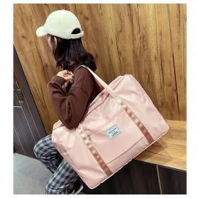 Koper & Tas Travel - Feimeng Tas Duffel Jinjing Wanita Fitness Gym Travel - B3051 - Pink