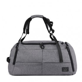 TUGUAN Tas Ransel Olahraga Backpack Duffle Gym Bag 15 Inch with Shoes Pocket - ZMB012 - Gray