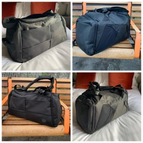 TUGUAN Tas Ransel Olahraga Backpack Duffle Gym Bag 15 Inch with Shoes Pocket - ZMB012 - Gray - 4
