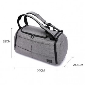 TUGUAN Tas Ransel Olahraga Backpack Duffle Gym Bag 15 Inch with Shoes Pocket - ZMB012 - Gray - 5