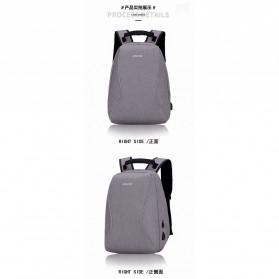 Mxzxing Tas Ransel Bisnis dengan USB Port Charging & Earphone - 2060 - Black - 3