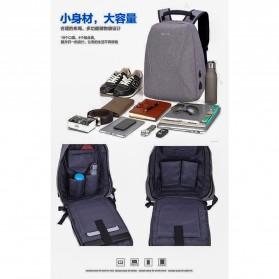 Mxzxing Tas Ransel Bisnis dengan USB Port Charging & Earphone - 2060 - Black - 6