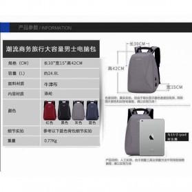 Mxzxing Tas Ransel Bisnis dengan USB Port Charging & Earphone - 2060 - Black - 8
