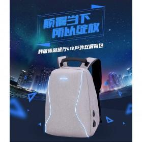 Mxzxing Tas Ransel Bisnis dengan USB Port Charging & Earphone - 2060 - Black - 10