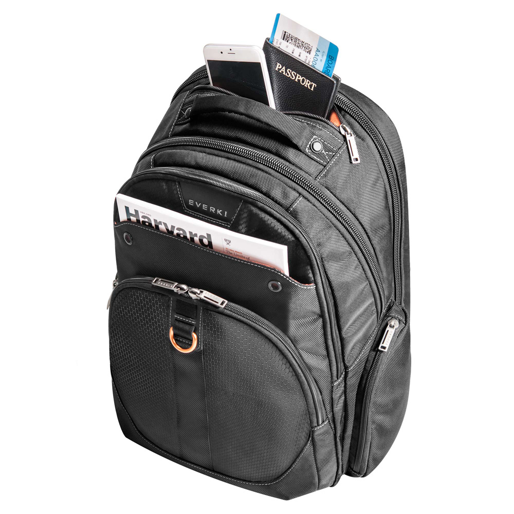 Everki Ekp121s15 Atlas Tas Ransel Business Backpack Black Distro Traveling Lots Of Pockets 9