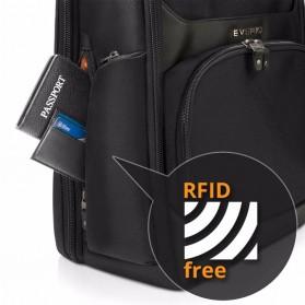 Everki EKP132 Onyx Tas Ransel Laptop Premium Travel Backpack 15.6 Inch - Black - 9