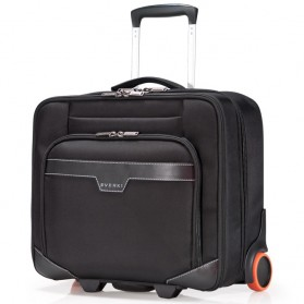 Everki EKB440 - Journey Laptop Trolley - Rolling Briefcase 11-Inch to 16-Inch Adaptable Compartment - Black - 2