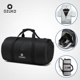 Trend Fashion Pria Terbaru - OZUKO Tas Ransel Olahraga Backpack Duffle Gym Bag with Shoes Pocket - 9209 - Black