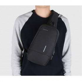 KINGSONS Tas Selempang Sling Bag with USB Charger Port - KS3173W - Dark Gray - 7