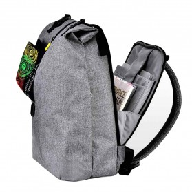 Xiaomi 90 Point Tas Ransel Laptop Rolltop Casual - Gray - 2