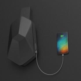 Xiaomi BEABORN Tajezzo Tas Selempang Sling Bag + USB Charger Port - 0201 - Black - 4
