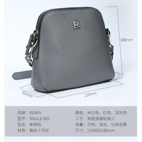Remax Tas Selempang Wanita Fashion Bags - Single 602 - Dark Gray - 7