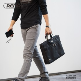 REMAX Tas Selempang Jinjing Notebook - 304 - Black - 5