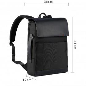 Remax Tas Ransel Laptop Elegan - Double 617 - Black - 5