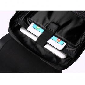 Remax Tas Ransel Laptop Elegan - Double 617 - Black - 6