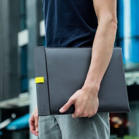 Baseus Sleeve Case Kulit Laptop 16 Inch - LBQY-BGY - Gray - 2
