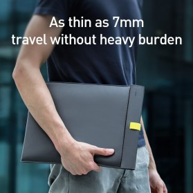 Baseus Sleeve Case Kulit Laptop 16 Inch - LBQY-BGY - Gray - 4