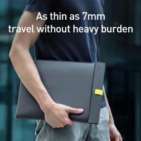 Baseus Sleeve Case Kulit Laptop 16 Inch - LBQY-BGY - White - 4