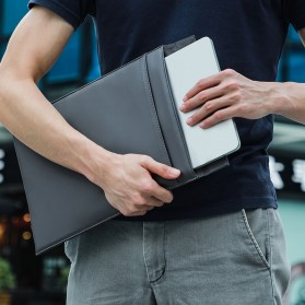 Baseus Sleeve Case Kulit Laptop 16 Inch - LBQY-BGY - White - 8