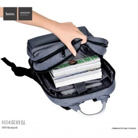 Hoco Tas Ransel Laptop Leisure Style Fit To 15.6 Inch - HS4 - Gray - 4