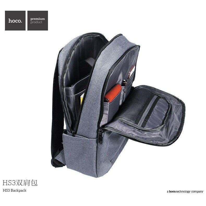 ... Hoco Tas Ransel Laptop Leisure Style Fit To 15 Inch - HS3 - Gray - 2 ...