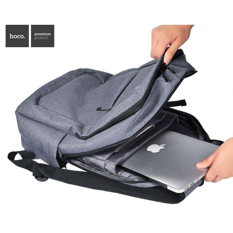 ... Hoco Tas Ransel Laptop Leisure Style Fit To 15 Inch - HS3 - Gray - 3 ...