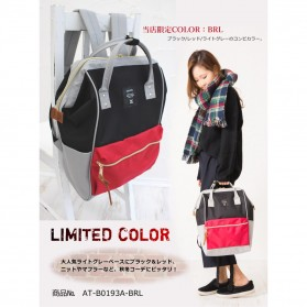 Anello Tas Ransel Oxford 600D Size L - Black/Red - 2