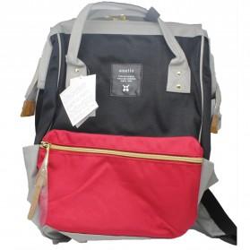 Anello Tas Ransel Oxford 600D Size L - Black/Red - 3