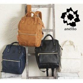 Tas Ransel Anello Handle Backpack Campus Rucksack L Size - Black - 2