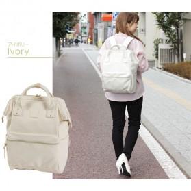Tas Ransel Anello Handle Backpack Campus Rucksack L Size - Black - 4