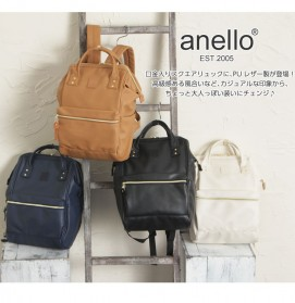 Tas Ransel Anello Handle Backpack Campus Rucksack L Size - Black - 5