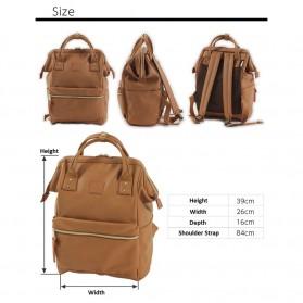 Tas Ransel Anello Handle Backpack Campus Rucksack L Size - Black - 7