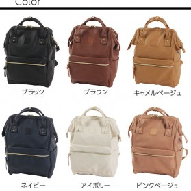 Tas Ransel Anello Handle Backpack Campus Rucksack L Size - Black - 9