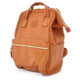 Tas Ransel Anello Handle Backpack Campus Rucksack L Size - Cream